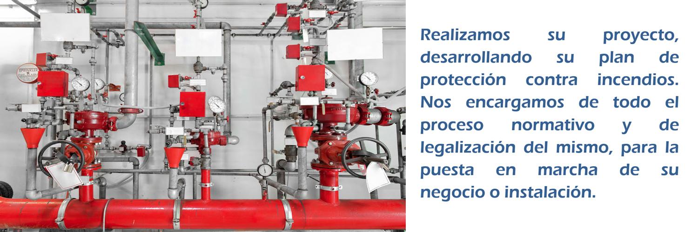 Realizamos su proyecto, desarrollando su plan de protección contra incendios. Nos encargamos de todo el proceso normativo y de legalización del mismo, para la puesta en marcha de su negocio o instalación.